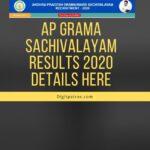 AP grama sachivalayam results 2020  Details Here