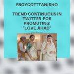 """#BoycottTanishq trend continuous in Twitter  for promoting """"love jihad"""""""